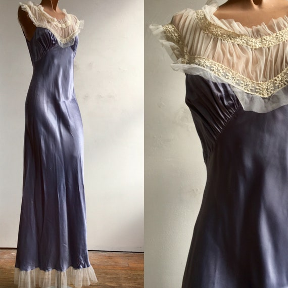 1940s Silky Rayon Slip Dress / Nighty