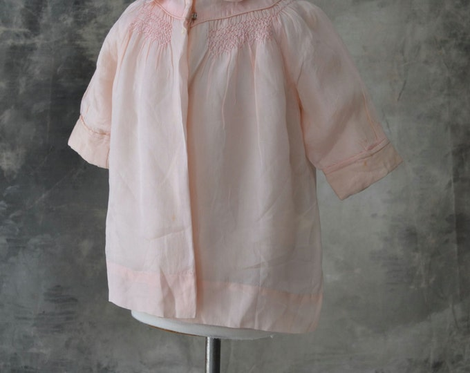 Handmade Child's Pink Silk Shirt