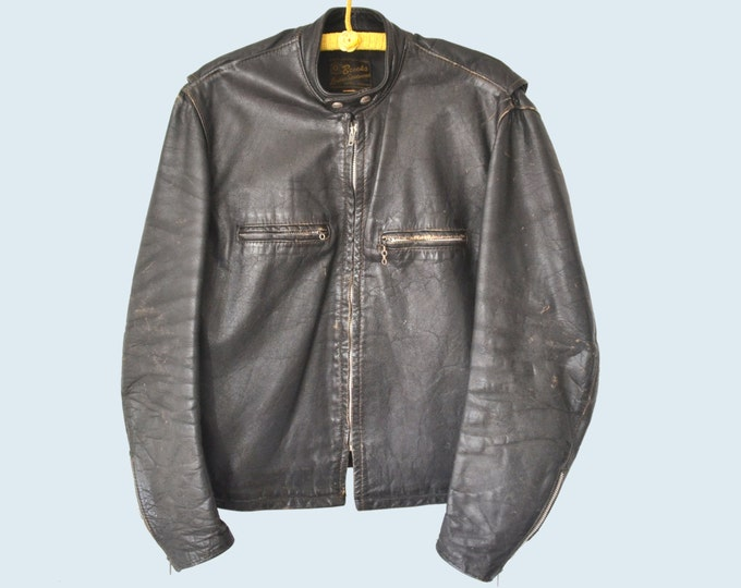 1960s Brooks Motorcycle Jacket size L