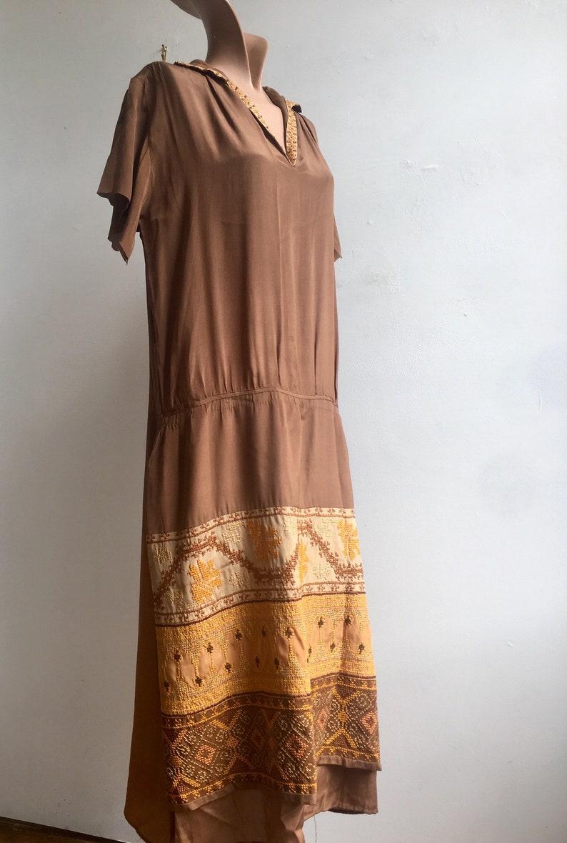 1920s Autumn Colors Cross Stitch Flapper Dress