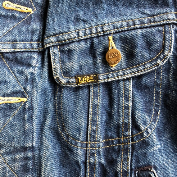 Lee rider denim jacket 1970s sz 40 - image 2
