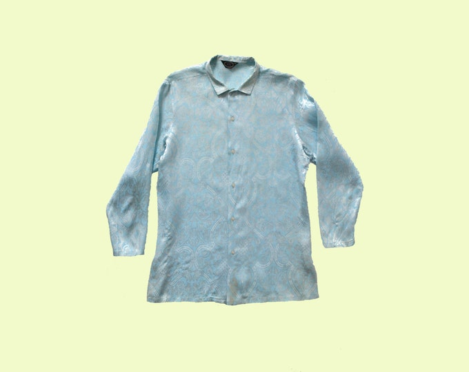 Blue swinging 1960s Nehru jacket size L