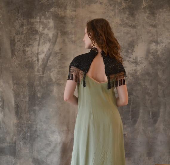 Edwardian Black Beaded Collar Shawl - image 2