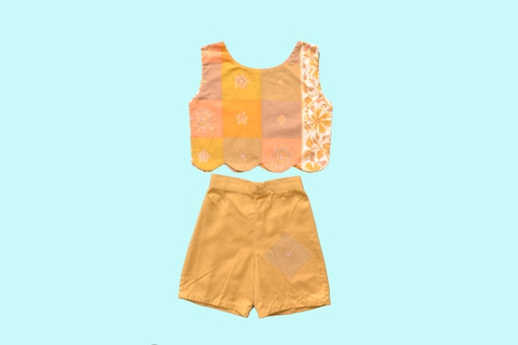 1950s Two Piece Orange  Play Set
