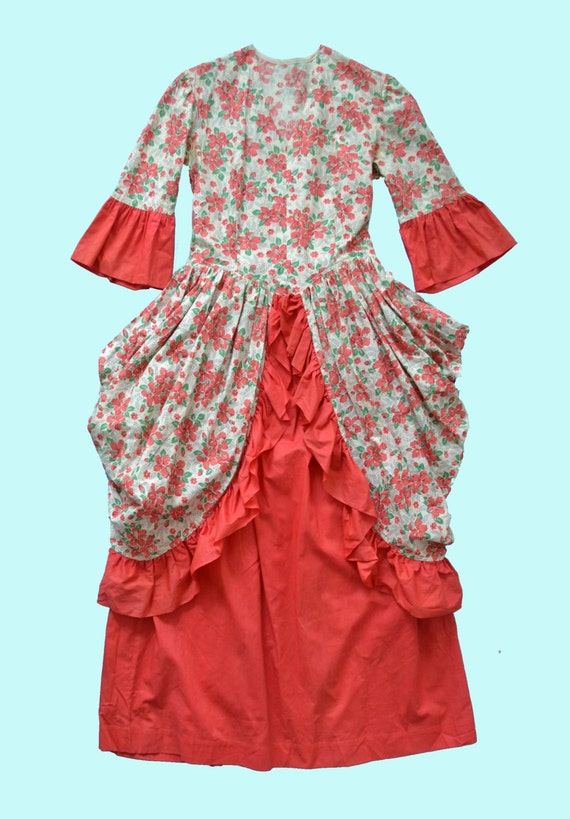 Theatrical Costume circa 1930s, floral feed sack … - image 4