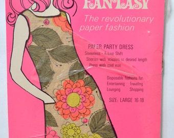 1960s Flower Fantasy Paper Dress