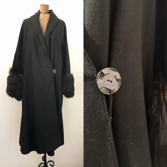 1920s Fur Sleeve Coat