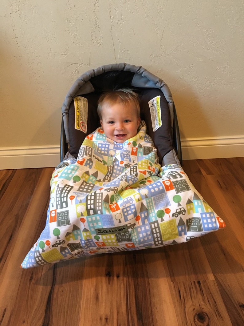 Car seat blanket Infant carrier Blanket car seat cover City image 0