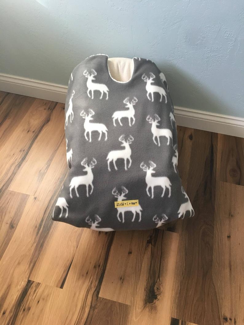 Infant Car Seat Blanket deer car seat cover car seat carrier image 0