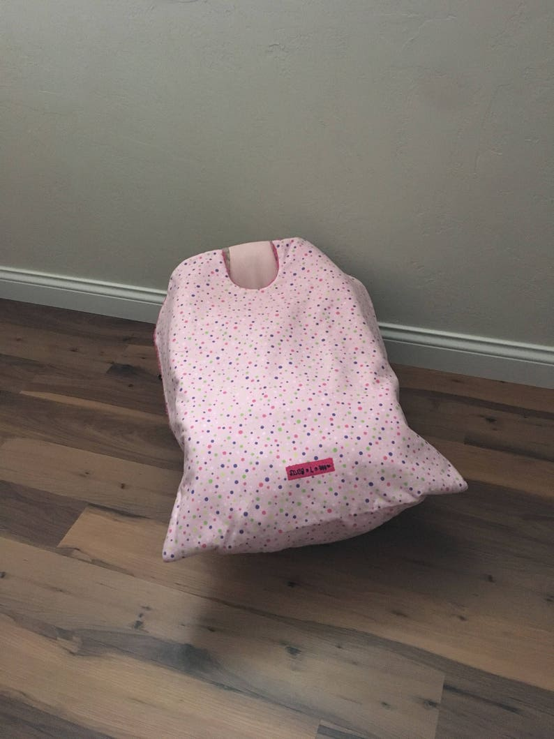 Car Seat Blanket car seat coverPink Polka Dot Snug L Bee image 0