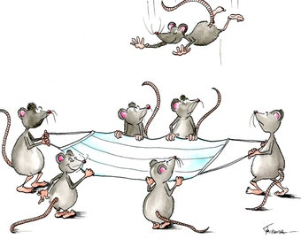 Pandemic Card - Mouse Greeting Card - Get Well Card