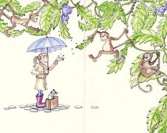 Rain Forest Art - Rainy Day Print