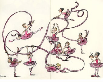 Ballerina Art, Dancing Girl Art, Ballet Art, Dancer Art, Ballerina Print, Dancer Print, Ballerina Watercolor, Ballet Wall Art, Dance Artwork