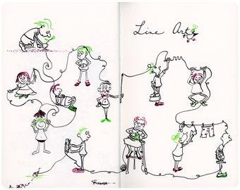Moleskine Illustration - Line Art