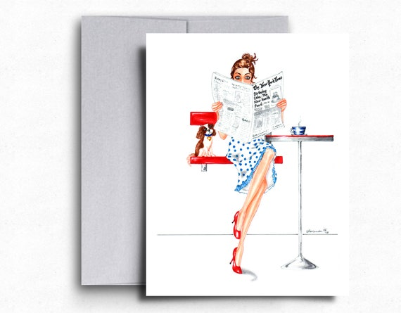 Funny birthday cards stylish birthday cards cavalier king etsy image 0 m4hsunfo