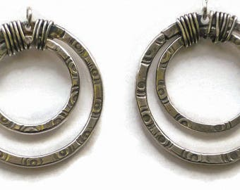 Hammered Concentric Rings Earrings