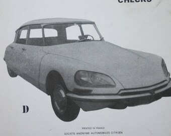 Citroen DS Repair Manual -  Vintage Auto book - Sixties Motoring