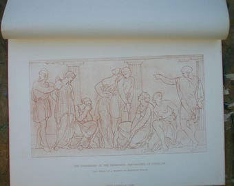 Punishment of the Unfaithful Handmaidens of Penelope -Terracotta drawing- Frederick Preller 19th century facsimile