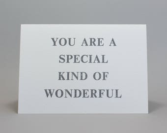 Letterpress Printed Greeting Card