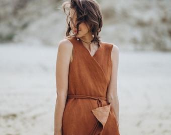 Felted Vest from merino wool and silk - Sleeveless Jacket in Cowboy Western Boho Steampunk Minimalist style - brown cinnamon top