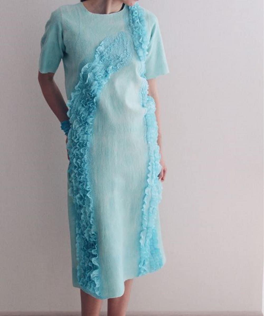 Mint grünes Kleid mit Seide Rüschen für Weihnachten party | Etsy