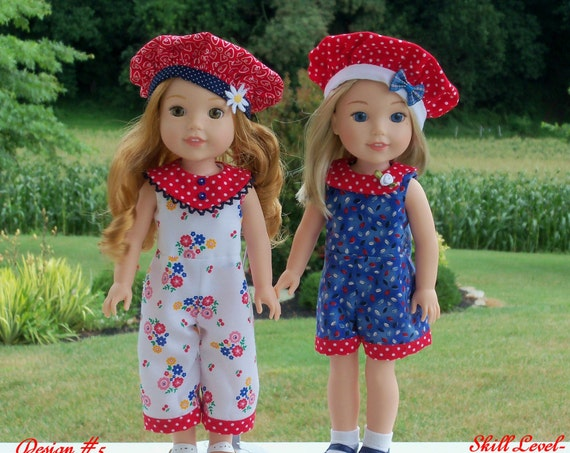 "PRINTED Sewing Pattern: SHORTY and SWEET/ Sewing Pattern fit 14"" American Girl  Wellie Wishers®"
