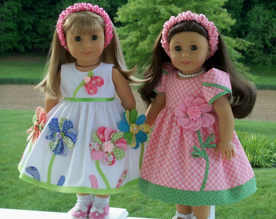 "Like American Girl Doll Clothes PRINTED Sewing Pattern  / SWEET PEA /  Sewing Pattern for  American Girl® or Other 18"" Doll"