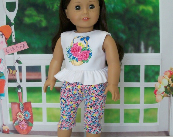 Special Value! Fits Like American Girl Doll Clothes / Summer Set and Sandals / 18 Inch Doll Clothes by Farmcookies for American Girl
