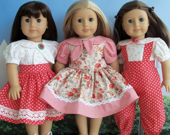 NEW!  Printed SEWiNG PATTERN / Farmcookies Happy Days / Classic Clothes from Yesteryear fit like American Girl Doll Clothes