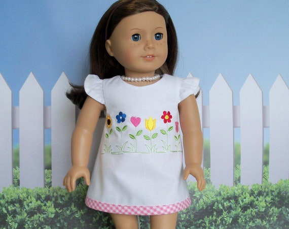Fits Like American Girl Doll Clothes / Farmcookies 18 Inch Summer A-Line Mini Doll Dress   / 18 Inch Doll Clothes For American Girl