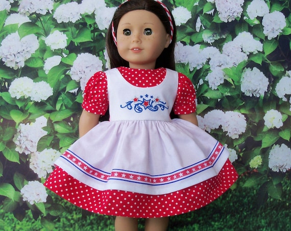 Fits Like American Girl Doll Clothes / Farmcookies Spring Doll Dress  / 18 Inch Doll Clothes/ Summer Doll Clothes For American Girl
