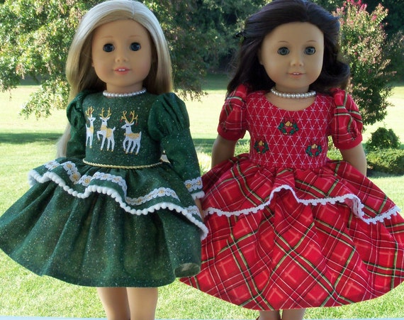 NEW !!  PRINTED SEWiNG PATTERN / Farmcookies Merry & Bright  / Clothes Fit Like American Girl Doll Clothes