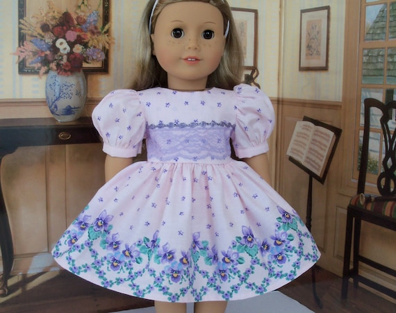 Fits Like American Girl Doll Clothes / Farmcookies Daisy Kingdom Doll Dress  / 18 Inch Doll Dress For American Girl