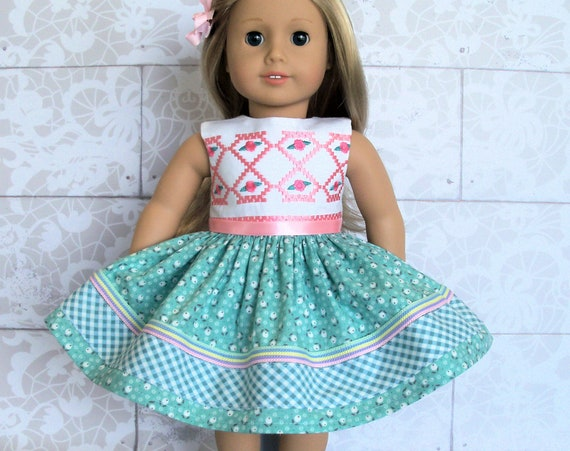 Fits Like American Girl Doll Clothes / Farmcookies   18 Inch Summer Doll Dress / 18 Inch Doll Clothes For American Girl
