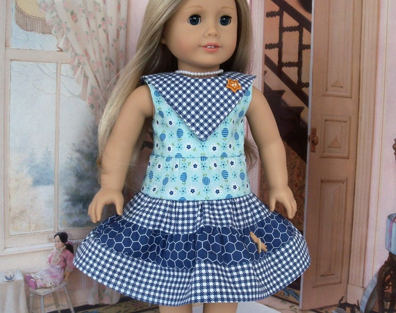 SALE! Fits Like American Girl Doll Clothes / Farmcookies Summer 18 Inch Doll Dress / 18 Inch Doll Clothes For American Girl