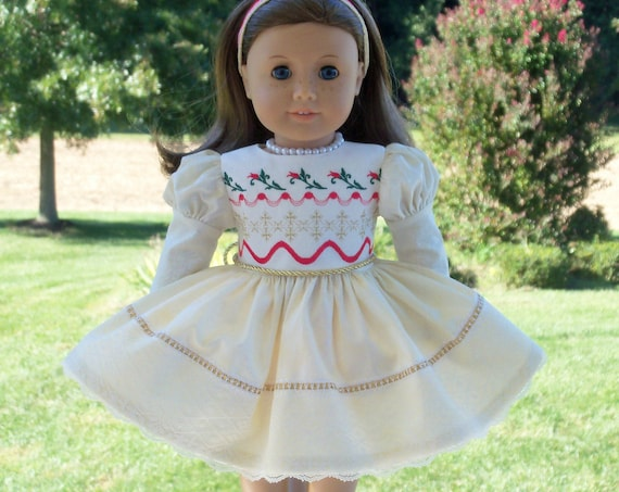 Fits Like American Girl Doll Clothes / 18 Inch Size / Special Occasion Holiday Dress / Fits American Girl and other 18 Inch Doll