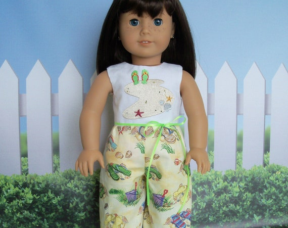 Fits Like American Girl Doll Clothes / Farmcookies Summer  Romper / 18 Inch Doll Clothes / Summer Play Clothes For American Girl
