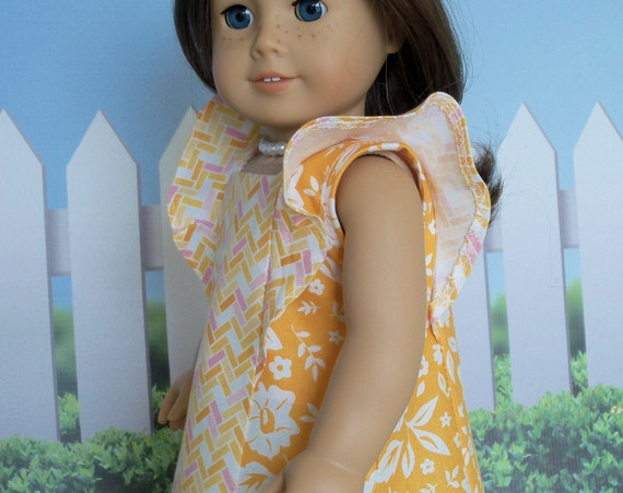 Fits Like American Girl Doll Clothes / Farmcookies  18 Inch Doll Dress / 18 Inch Summer Doll Clothes For American Girl