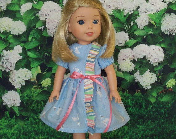 14 Inch Doll Clothes / Like Wellie Wisher Doll Clothes / Farmcookies Ruffle Dress and  Shoes