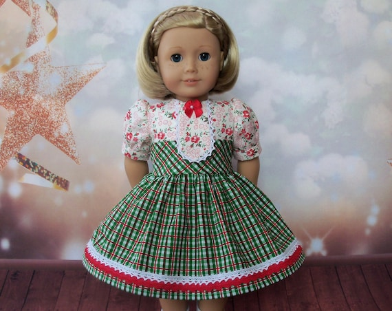 18 Inch DOLL CLOTHES / Farmcookies Classic School Dress / Fits American Girl and other 18 Inch Doll