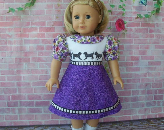 Like American Girl Doll Clothes / Embroidered 1930's Dress and Shoes / 18 Inch Doll Clothes by Farmcookies  fits American Girl