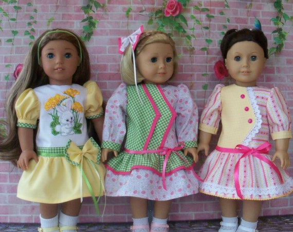 PDF SEWING PATTERN / Kit's School Dress / 18 Inch Doll Clothes Pattern / Fits Like American Girl Doll Clothes