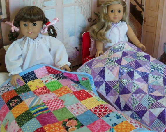 PRINTED SEWING PATTERN / Scrap Bag Quilts /  Fits Like American Girl Doll Clothes and Accessories / for American Girl®, Wellie Wishers