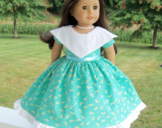 Fits Like American Girl Doll Clothes / 18 Inch Size / Historical  Garden Friends Doll Gown / Fits American Girl and other 18 Inch Doll