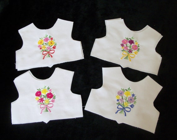 "18 Inch size / Farmcookies Embroidered Summer Bodice Front  / Lining Included / Sewing for 18"" American Girl Doll Clothes"