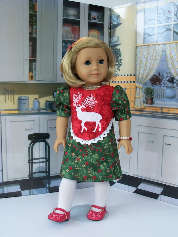 Fits Like American Girl Doll Clothes / 18 Inch Size / Kit's Holiday Dress / Fits American Girl and other 18 Inch Doll
