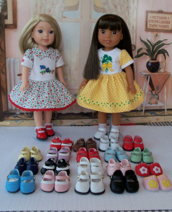 Like American Girl Doll Wellie Wisher® Doll Shoes  /CUSTOM Made to Your SPECS /  Shoes, Doll Clothes for Wellie Wishers® & Hearts 4 Hearts
