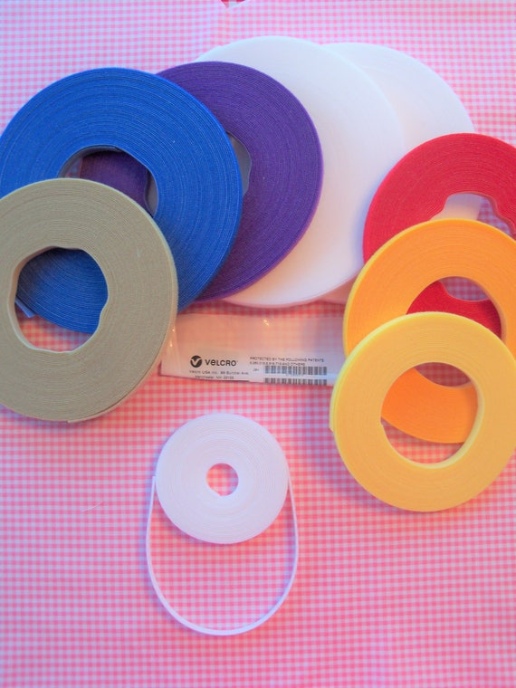 EXTRA THiN VELCRO ® / 3 Yard Pack of Genuine VELCRO® Brand Ultra Thin Low Profile Hook & Loop for Doll Clothes /Many Colors