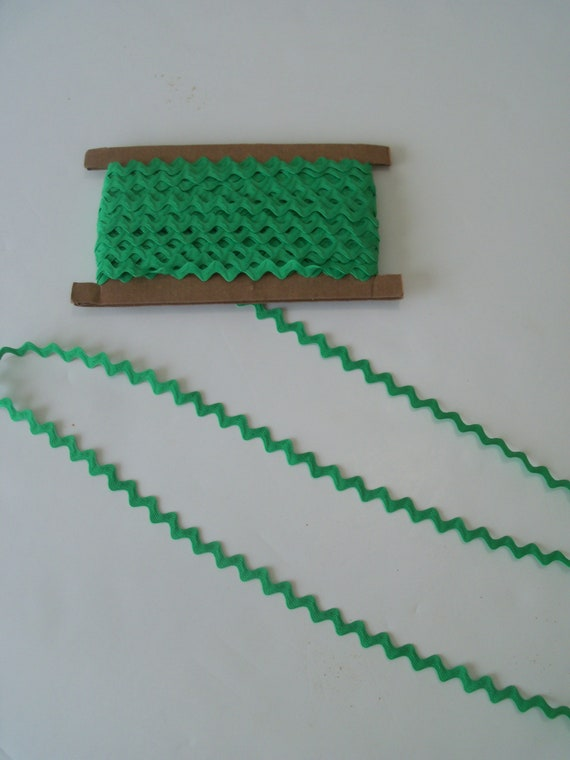 5 Yards Green Cotton Rick Rack Trim / Farmcookies Doll Clothes Sewing Trims