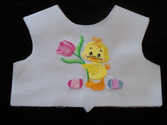 """18 Inch size / Farmcookies Embroidered Easter Bodice Front  / Lining Included / Sewing for 18"""" American Girl Doll Clothes"""